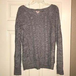 Mossimo Gray Pullover Sweater Sz L in EUC